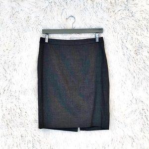 J. Crew Super 120's gray wool pencil skirt